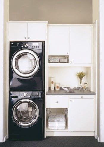 Tiny Laundry Room Ideas Stackable Washer And Dryer Is An Excellent E Saving Idea