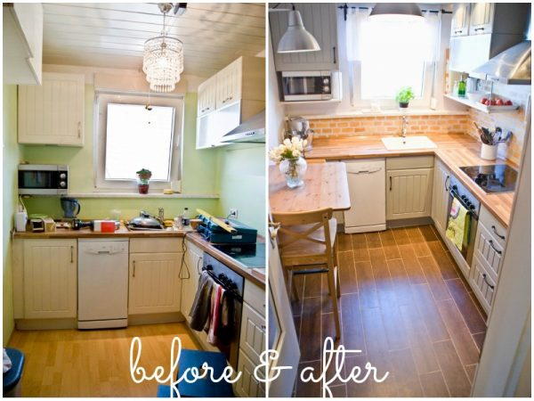 Very Small Kitchen Makeover Before And After
