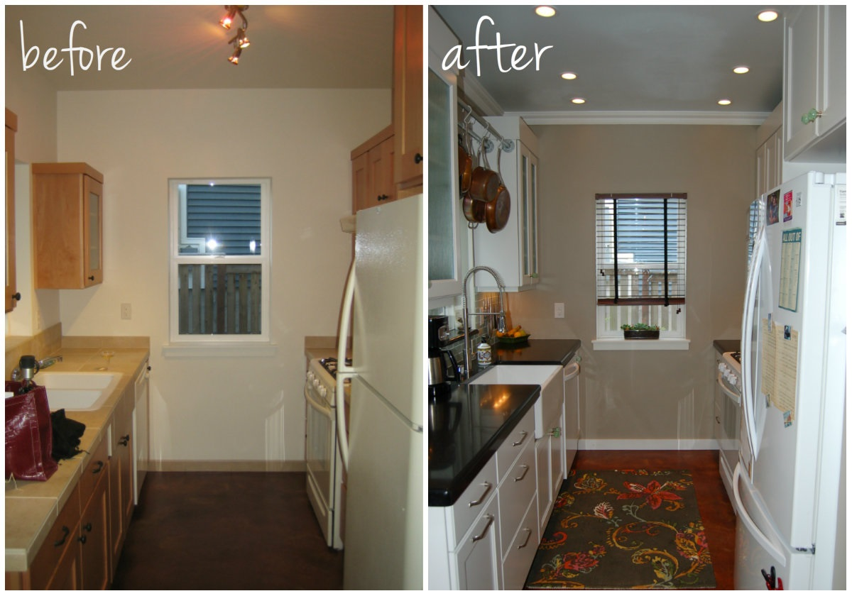 Small Kitchen Diy Makeover Remodel Idea Before And After Pictures