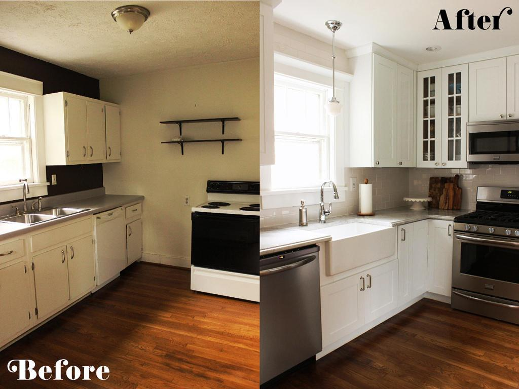 Small Kitchen DIY Ideas - Before & After Remodel Pictures ... on Small Kitchen:jdu_Ojl7Plw= Kitchen Remodeling Ideas  id=15807