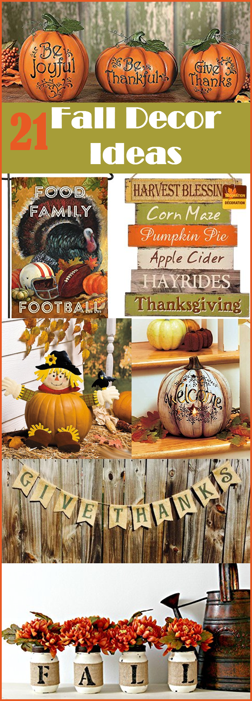 Fall decorating ideas 21 easy ideas for decorating your for Thanksgiving home ideas
