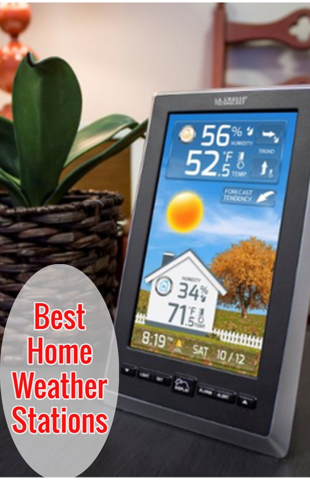 This is a great wireless home weather station. Indoor/outdoor thermometer, weather alerts and weather forecast. Every home should have one of these for bad weather alerts.