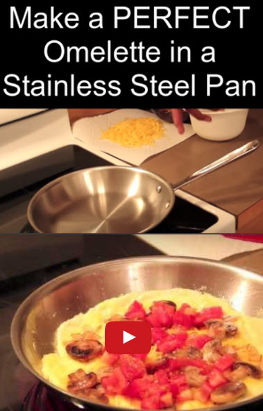 Make the PERFECT Omelet in a Stainless Steel Pan