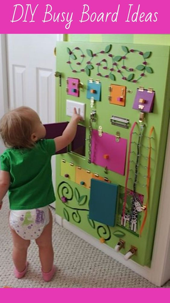 Activity Boards for Toddlers and one year olds - DIY Busy Board Ideas for toddlers   Sensory Board Ideas DIY