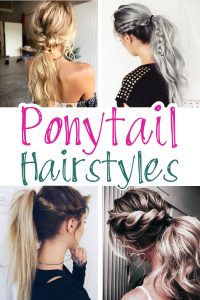 Ponytail Hairstyles! Lots of cute and easy ponytail ideas for long hair and medium length hair. High ponytails, braids, twists, low ponytails and more