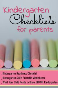 Free kindergarten readiness checklists for parents - kindergarten worksheets, printable checklists, activities and more