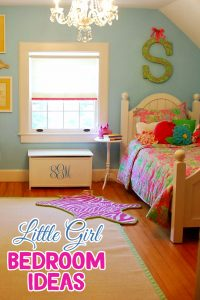 Girl Bedroom Ideas - super cute DIY little girl bedroom decorating ideas (great for toddler girls too!) #littlegirlsroom #bedroom #bedroomideas #bedroomdecor #diyhomedecor #homedecorideas #diyroomdecor #littlegirl #toddlergirlbedroomideas #toddler #diybedroomideas #pinkbedroomideas
