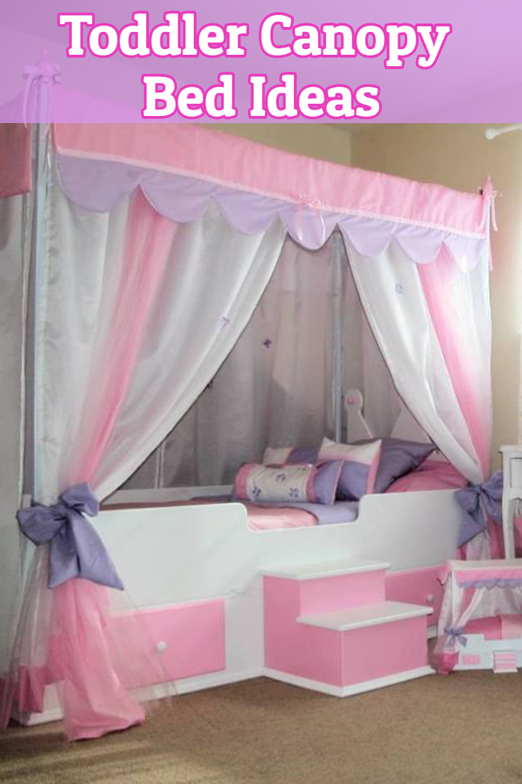 Cute toddler girl canopy beds and decorating ideas