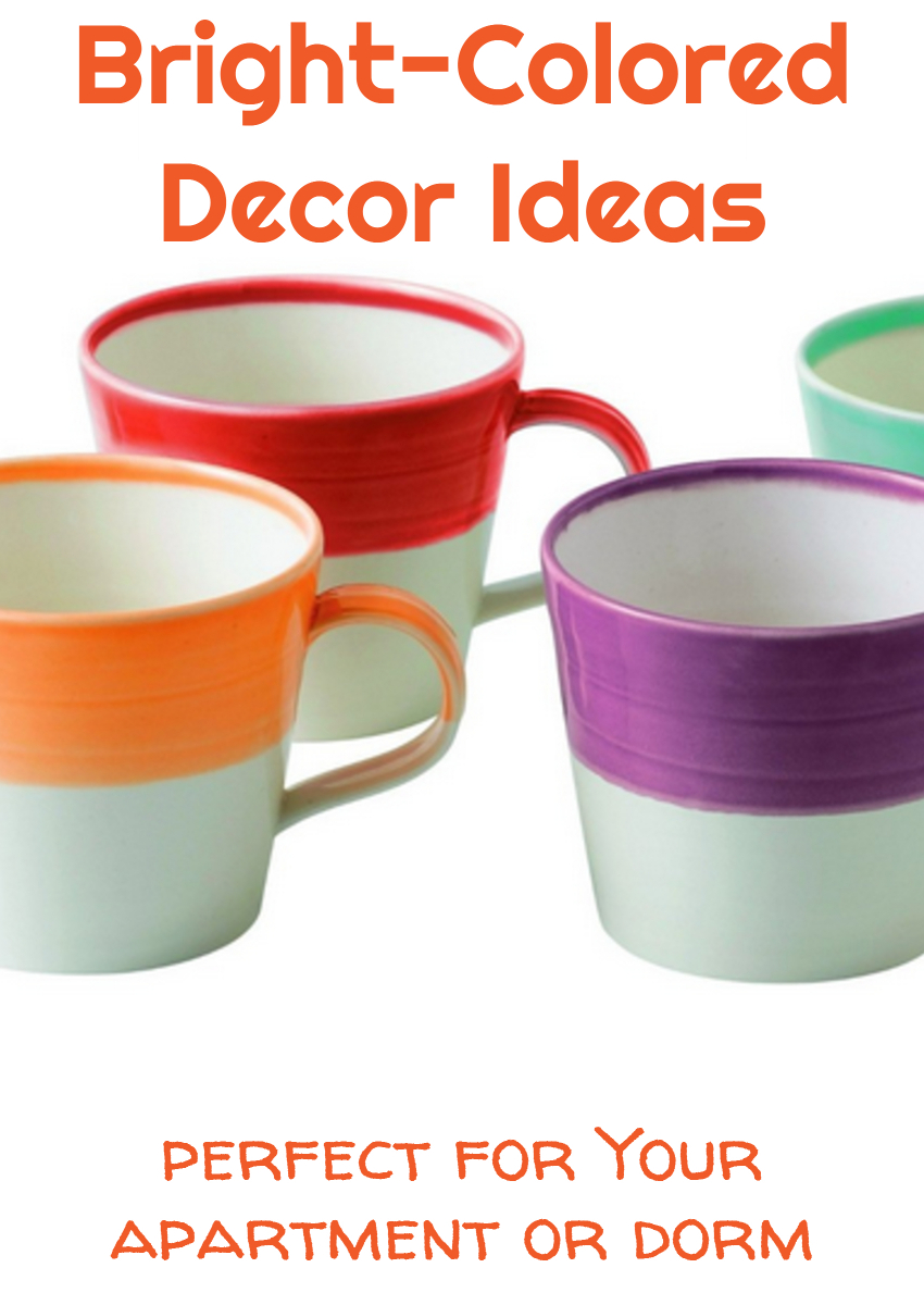 bright colored decor ideas for dorm or apartment