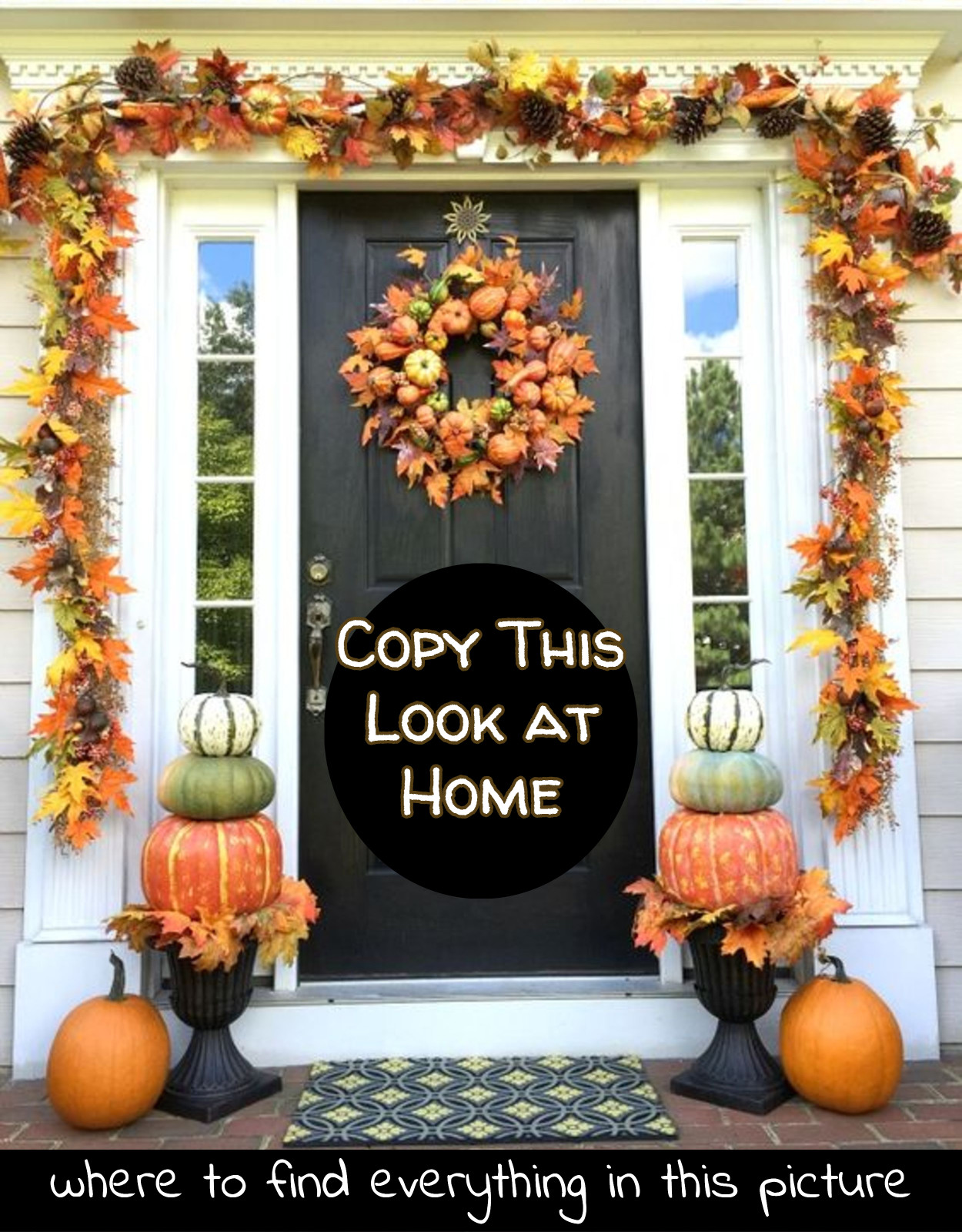 How To Copy this Fall Front porch idea at home - where to find it all