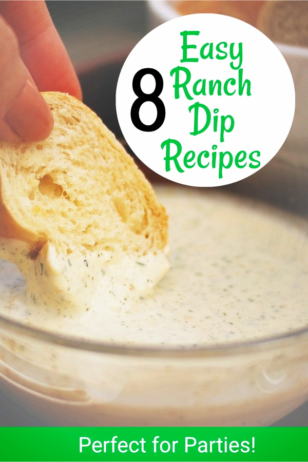 Easy Party Food! 8 Easy Ranch Dip Recipes for parties - crowdpleasers!