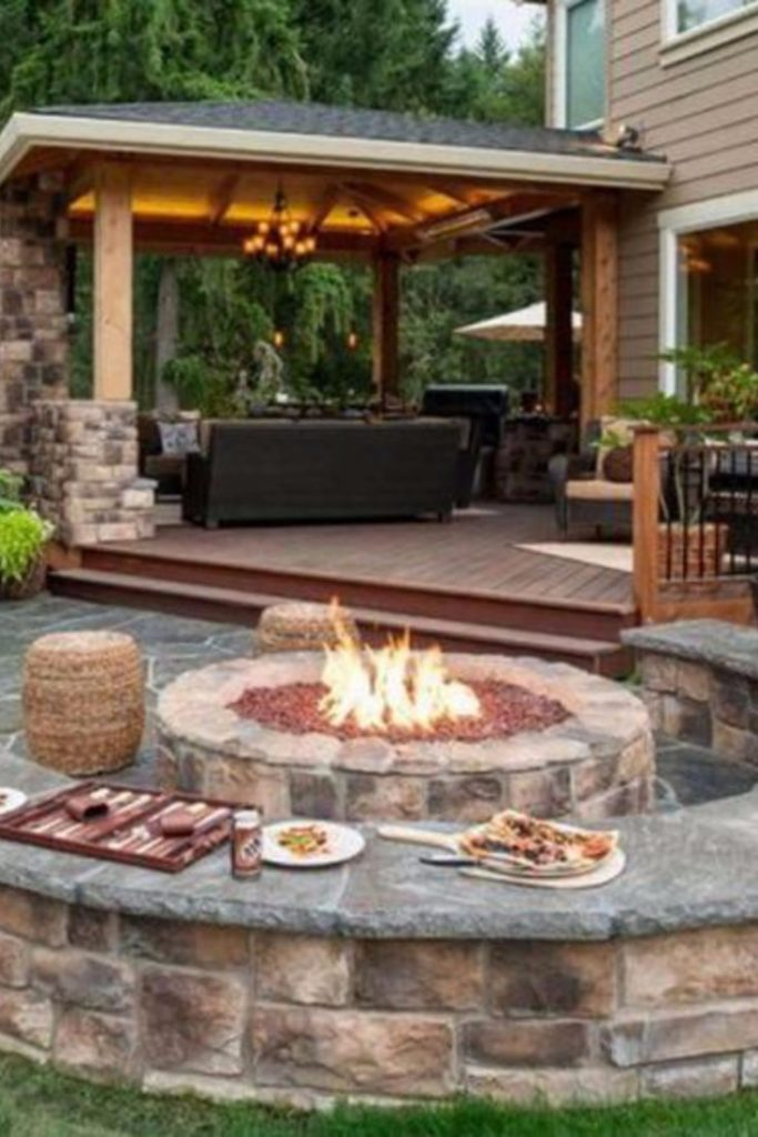 patio fire pit ideas for backyard