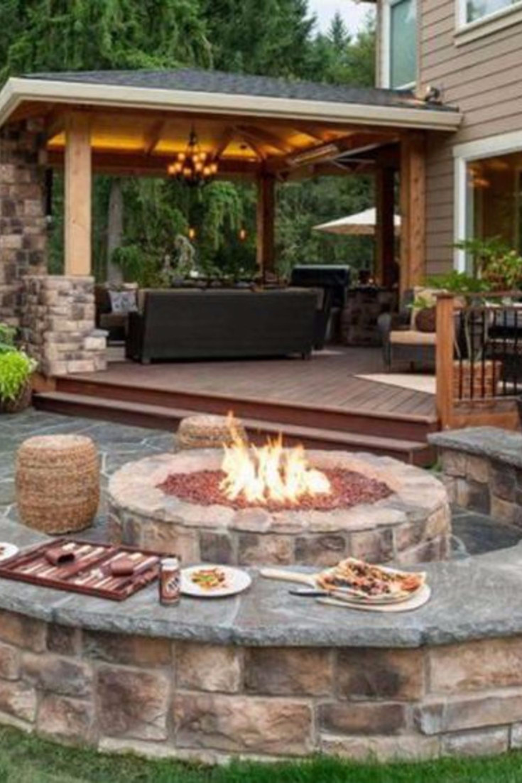 Backyard Fire Pit Ideas and Designs for Your Yard, Deck or ... on Back Patio Ideas id=13219