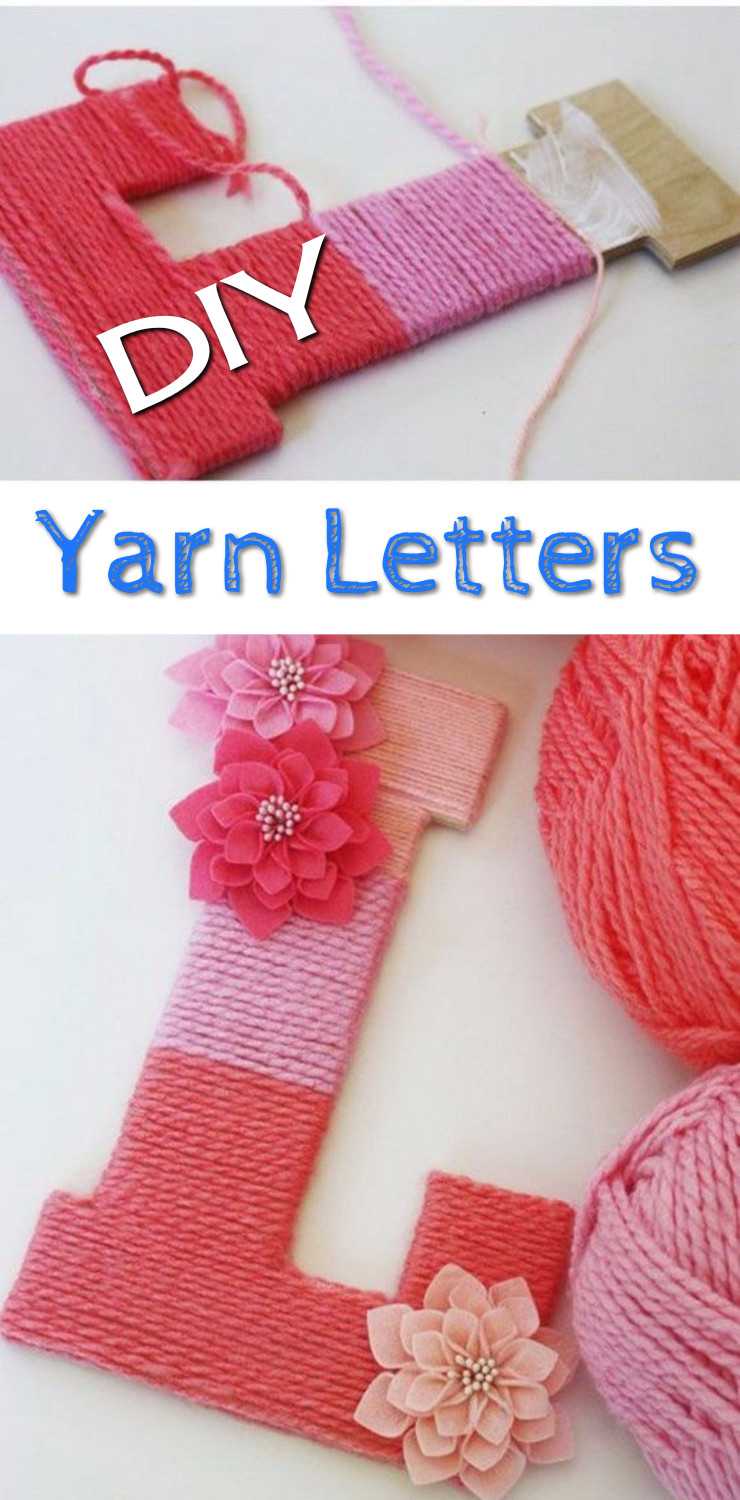DIY Yarn Letters – Easy Yarn Wrapped Letters for Decorative Lettering