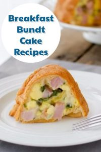 This breakfast bundt cake recipe look delicious and it's easy to make too. This Easy breakfast recipe has ham, cheese, eggs, and spinach and uses Crescent rolls too.