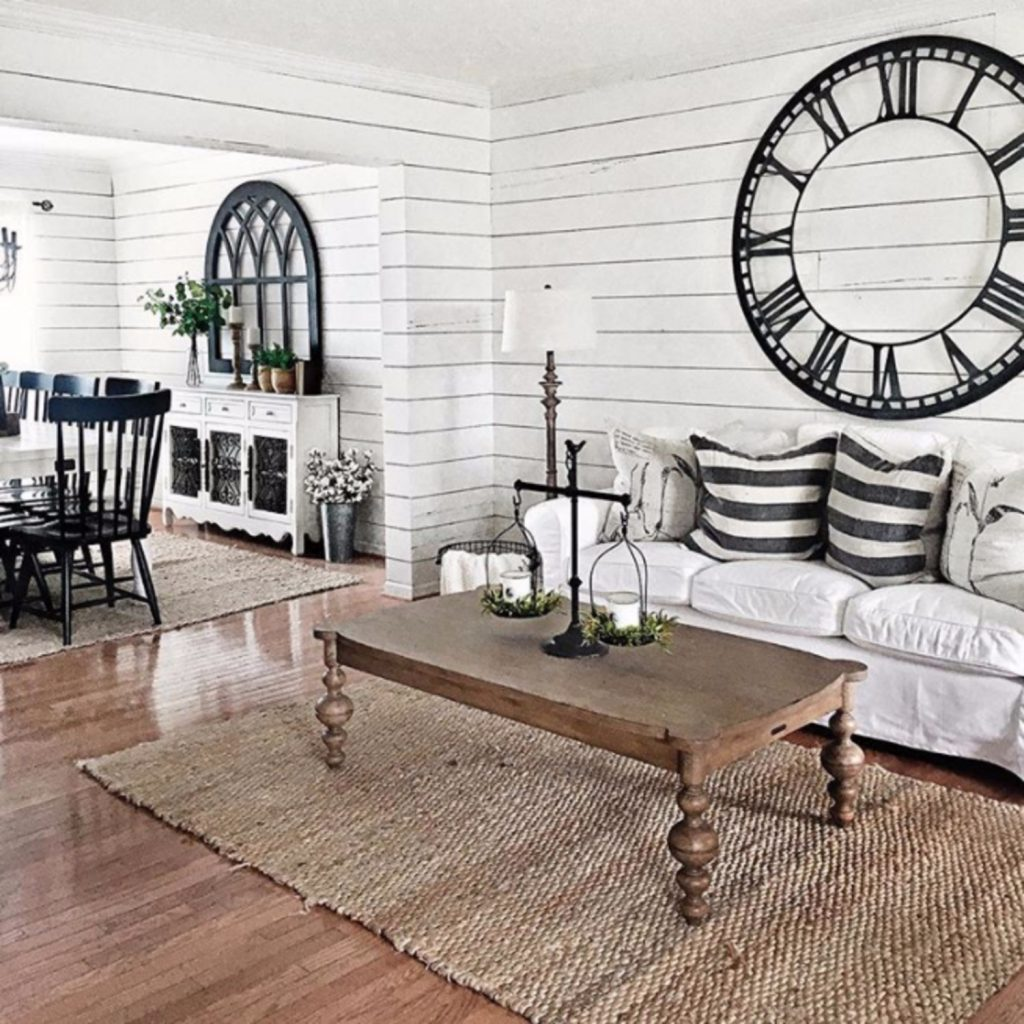 {Farmhouse Living Rooms} • Modern Farmhouse Living Room ... on Curtains For Farmhouse Living Room  id=17628