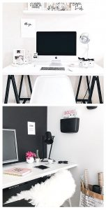 Home office ideas - beautiful home office decor , design and decorating ideas - beautiful feminine home office work space ideas for women and smart SMALL home office design and set up ideas for your home. If you work from home, you'll love these home office ideas.