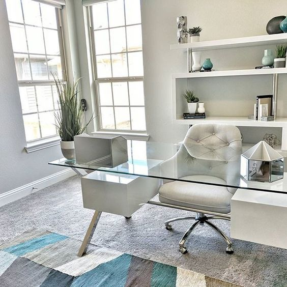 Great Home Office Decor Decorating Idea Love How Clean And Organized The Gl Desk