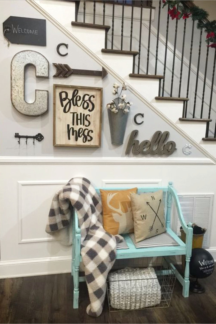 diy entryway ideas for small foyers and apartment entryways - easy Foyer Decorating Ideas