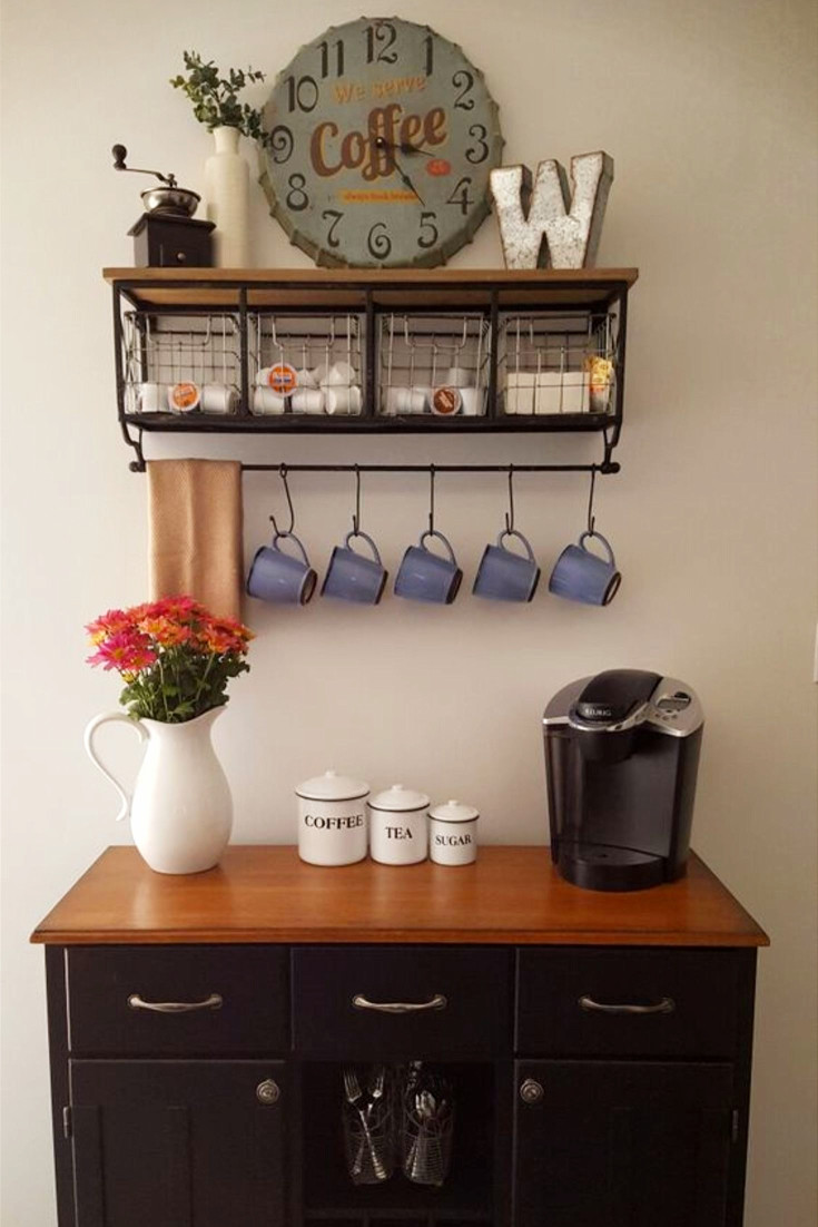 Coffee Nook Area Love This Idea The Wall Shelf With