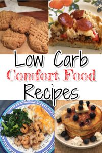 Lots of low-carb comfort recipes on this page - the low carb pancakes and NO carb cookies look AMAZING and super yummy!