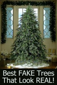 Best realistic-looking Christmas Trees - Beautiful fake trees that look SO real
