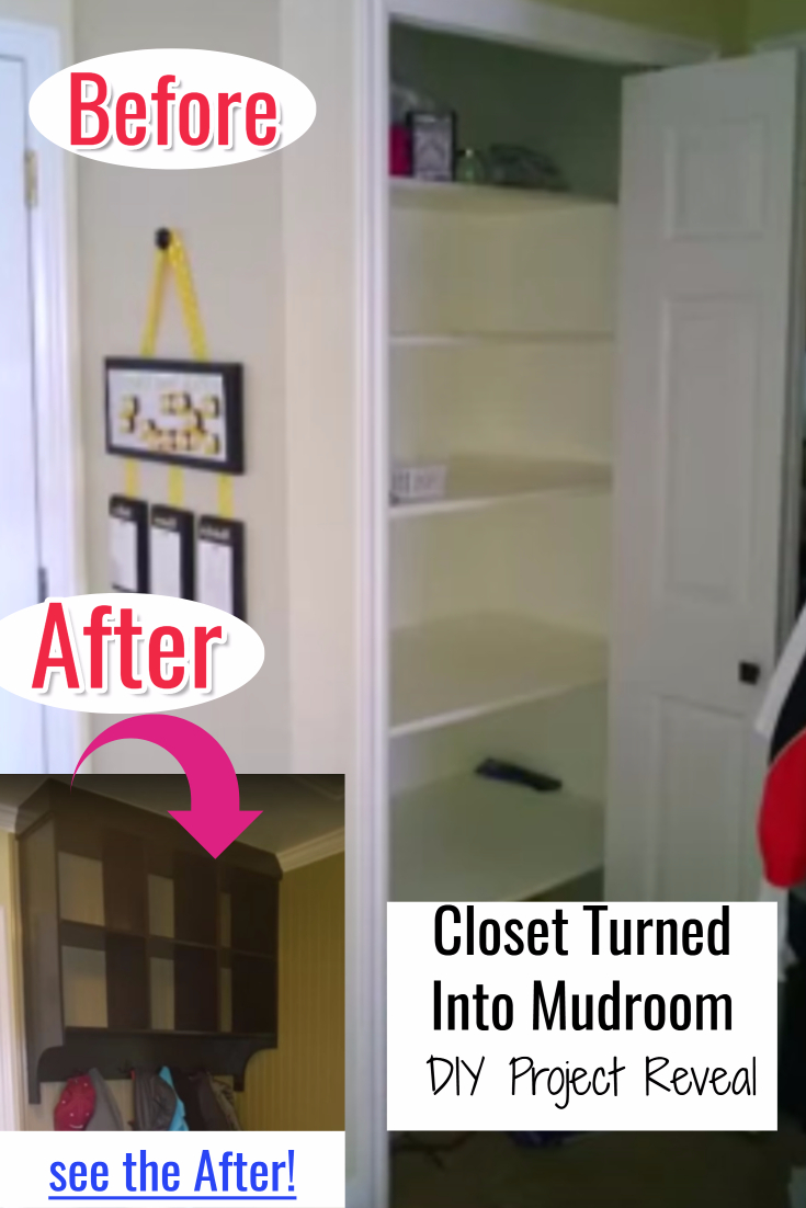 Closet Mudroom DIY - Before and After Pictures