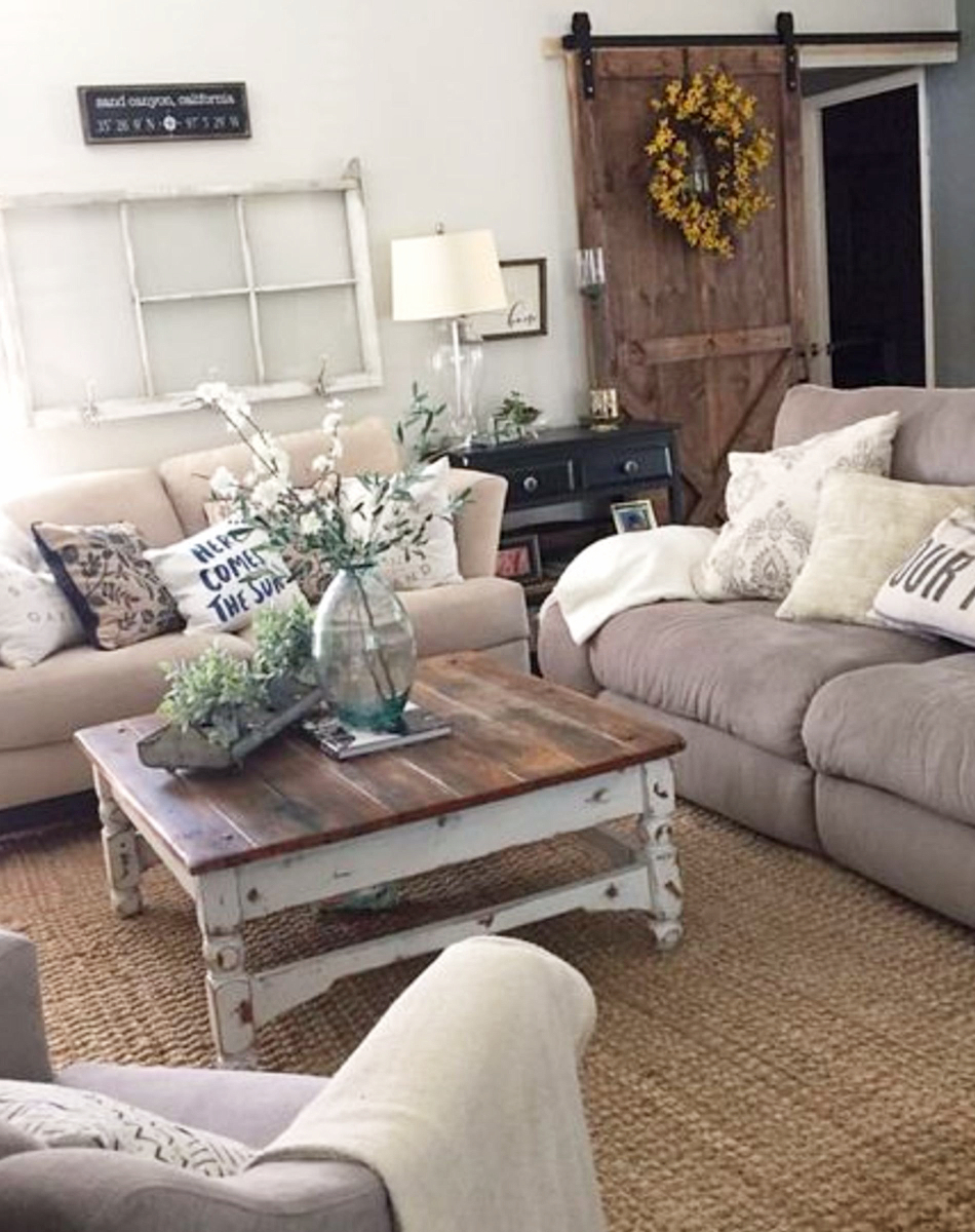 Farmhouse Living Rooms Modern Room Decor Ideas Family Rustic
