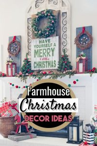 Farmhouse Christmas Decorating ideas for the Home. Decorate your home inside and outside in Farmhouse style for this Holiday season. Country farmhouse rustic charm makes the Holidays extra special!