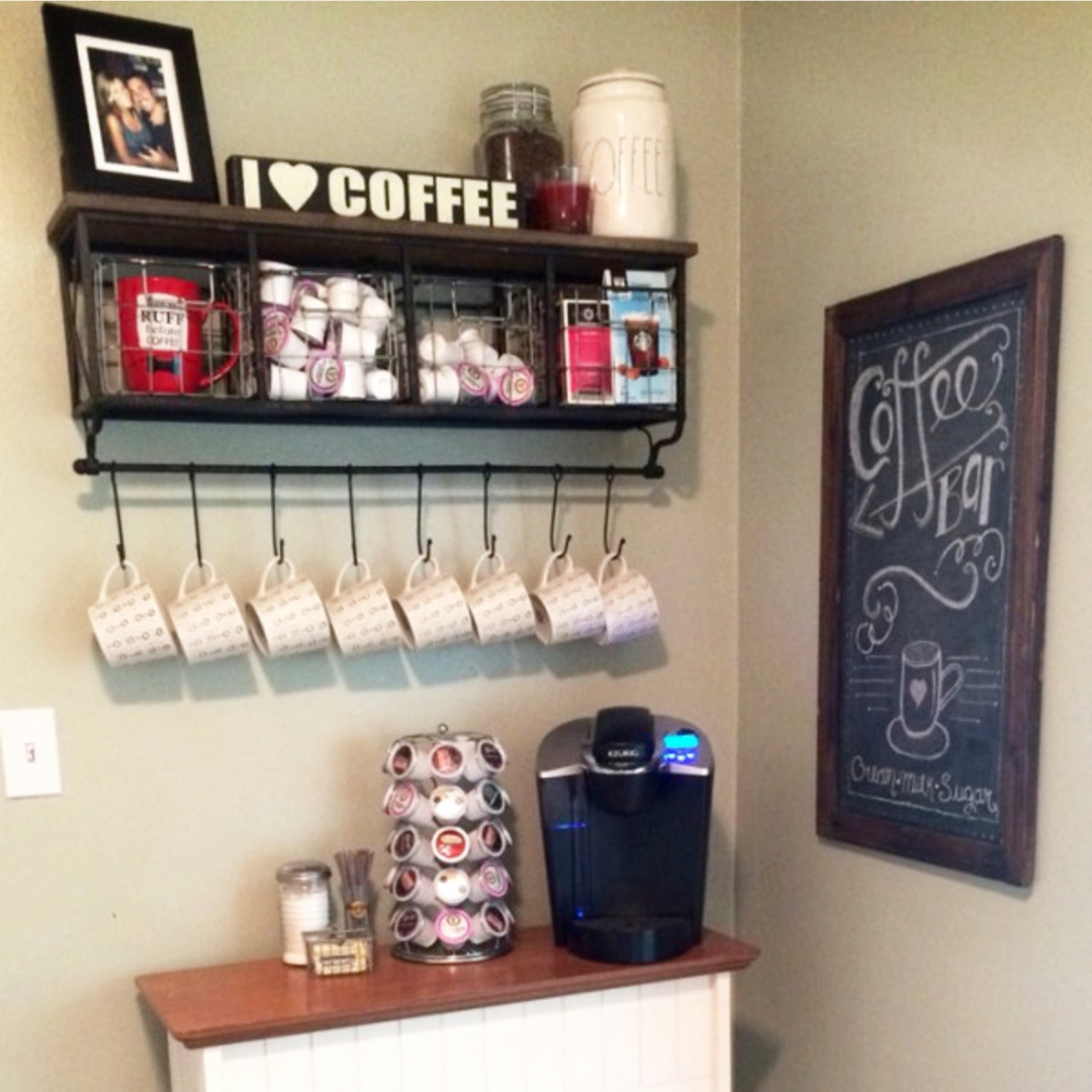 ... Namecoffee Bar Wall Shelf Coffee Station Ideas 1 ...
