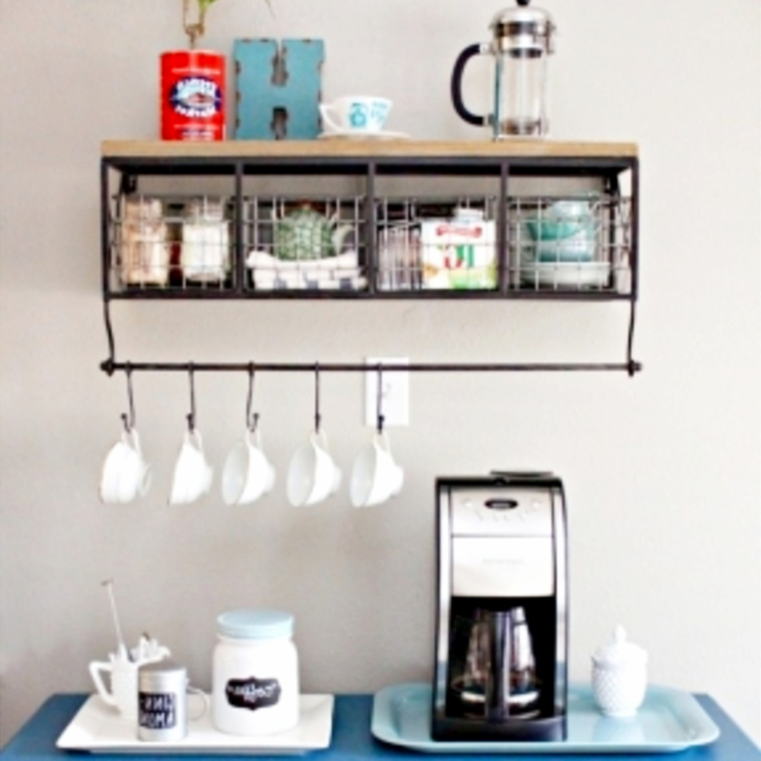 ... Namecoffee Bar Wall Shelf Coffee Station Ideas 11 ...