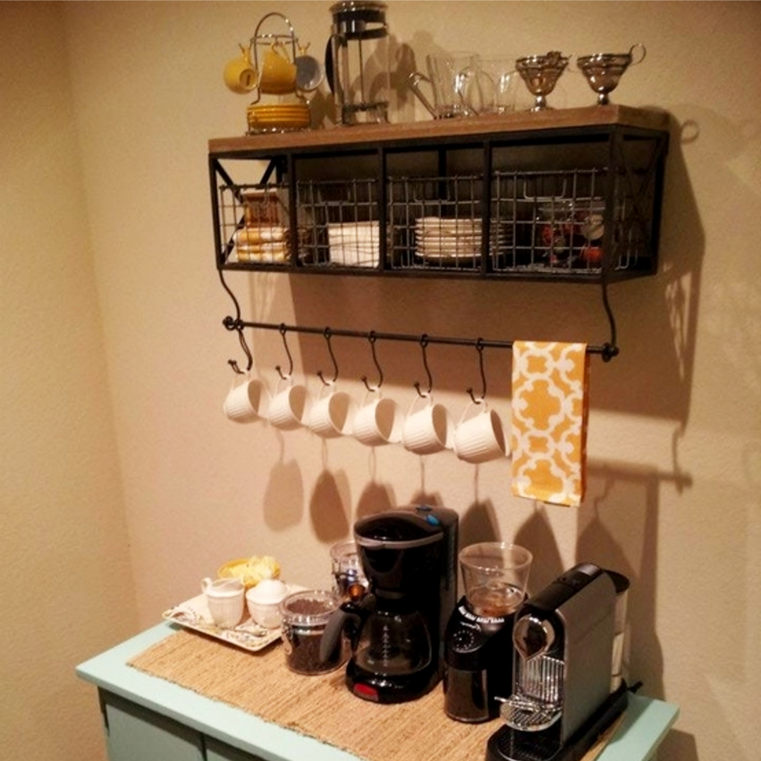 ... Namecoffee Bar Wall Shelf Coffee Station Ideas 5 ...