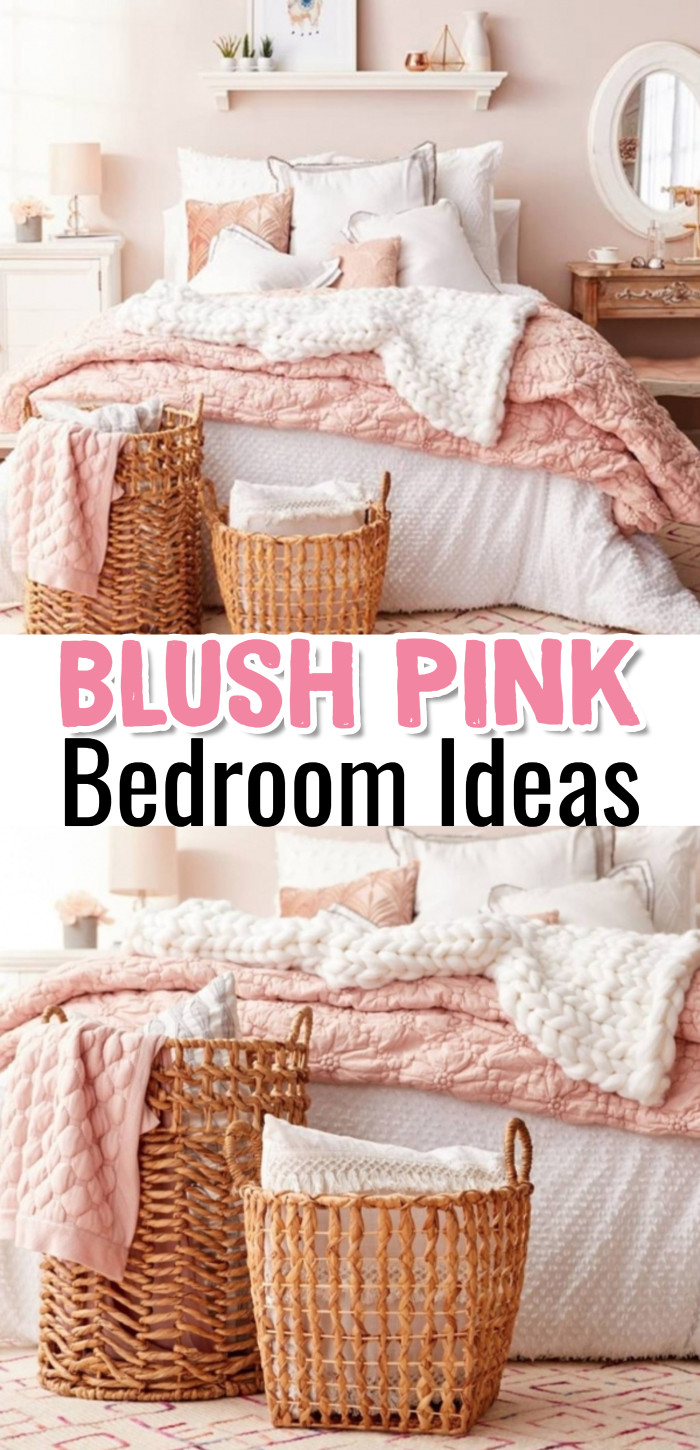Blush Pink Bedroom Ideas - Dusty Rose Bedroom Decor and ...