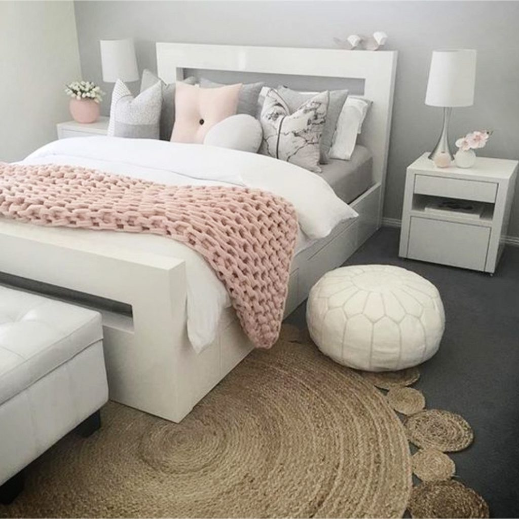 Light Grey Bedroom Ideas: Dusty Rose Bedroom Decor And