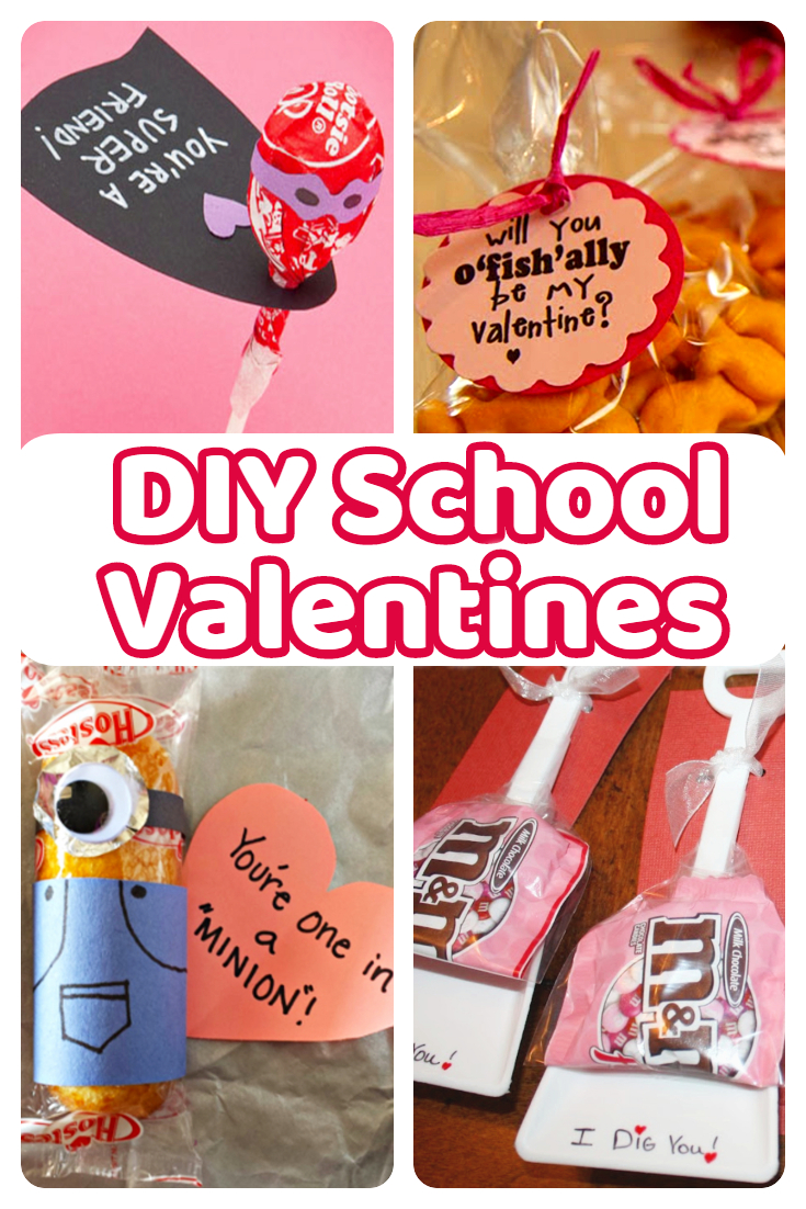 Cute homemade classroom valentine cards for kids to exchange with the class!