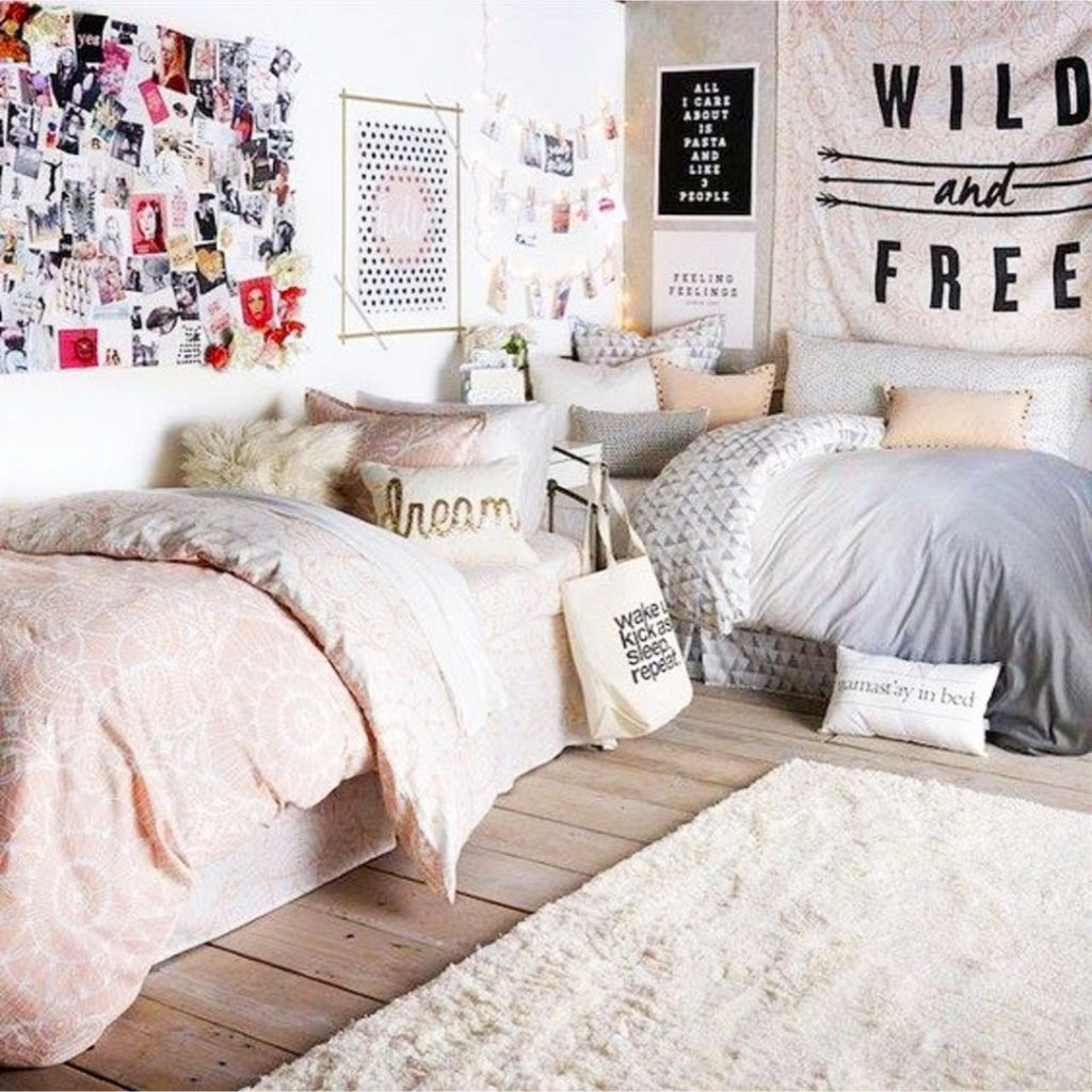 Beautiful and cute dorm room ideas for girls #dormroomideas #gettingorganized #goals