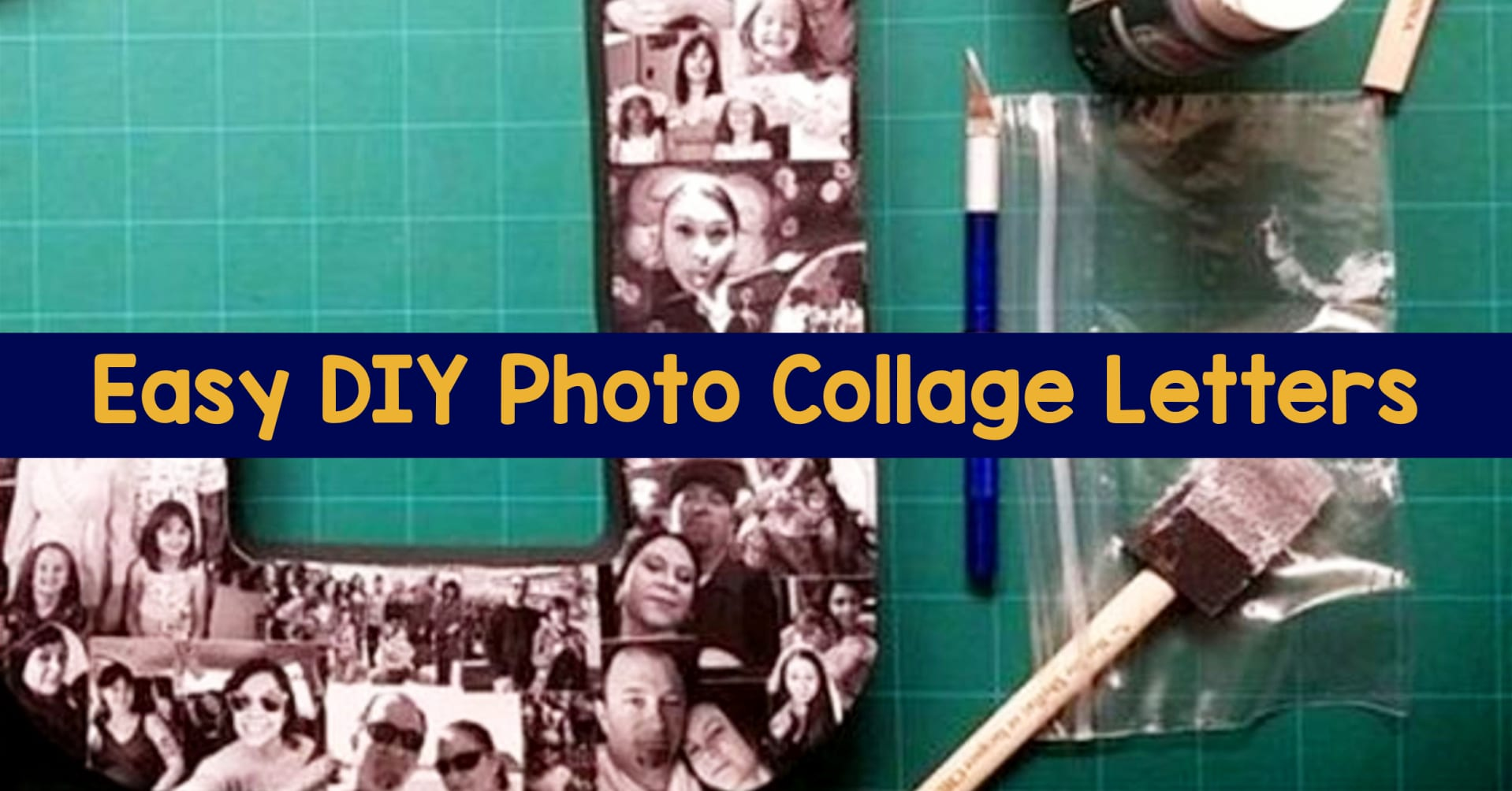 Easy DIY photo collage letters