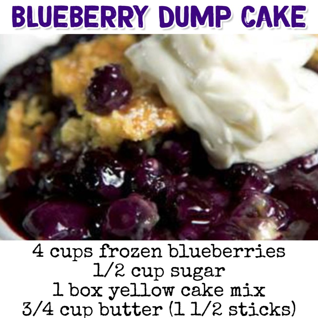 Dump Cake Recipes - Blueberry Dump Cake Recipe #dumpcakerecipes #easydesserts #easyrecipes #dessertrecipes