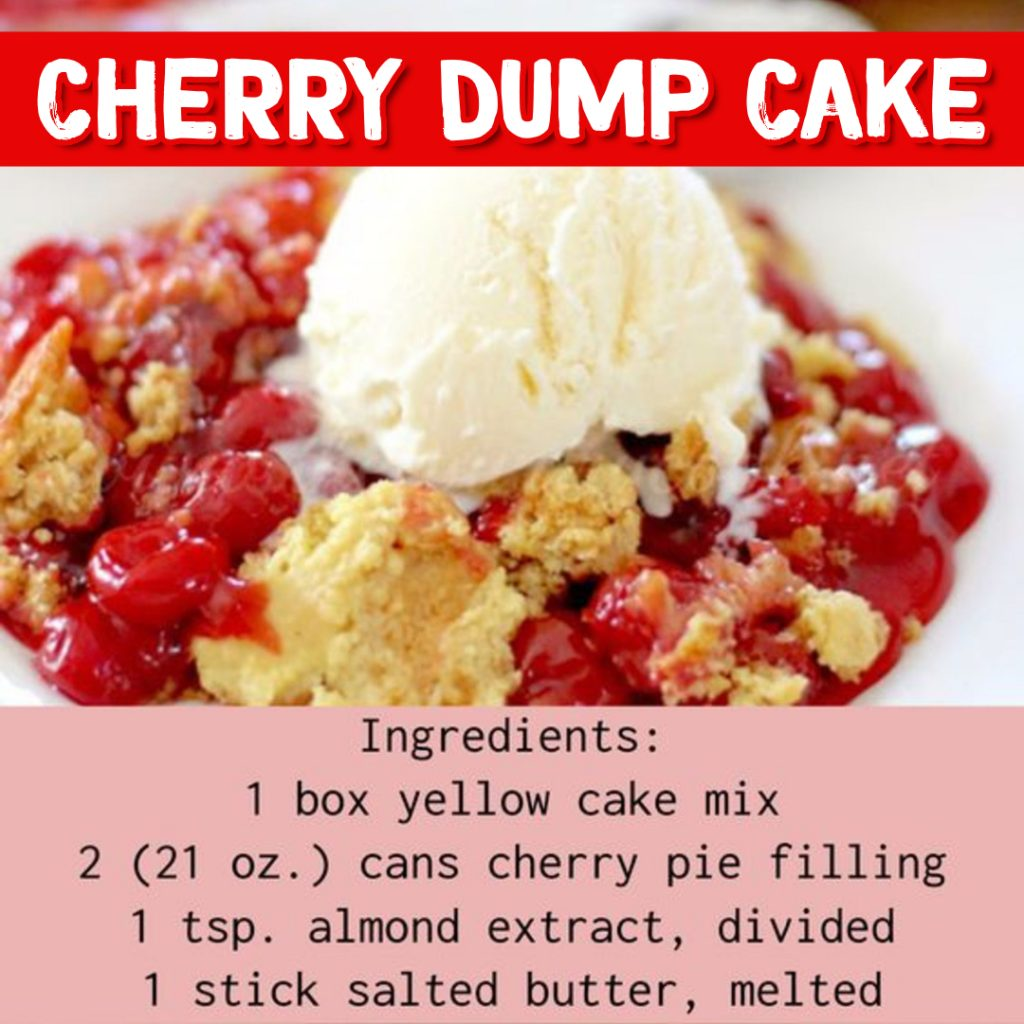 Dump Cake Recipes - Cherry Dump Cake Recipe #dumpcakerecipes #easydesserts #easyrecipes #dessertrecipes