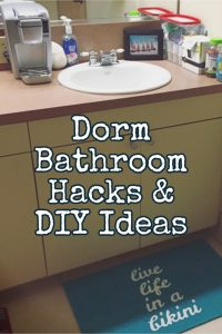 College Dorm Bathroom Ideas - college bathroom decorating ideas, DIY dorm bathroom decor, cute dorm bathroom ideas, college bathroom essentials, dorm bathroom checklist and awesome DIY dorm bathroom hacks #collegedormbathroom #dormroomideas #dormbathroomdecor #collegebathroom #collegeapartmentbathroom #collegebathroomdecor