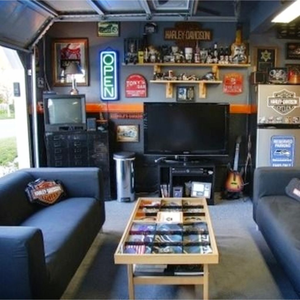 Man Cave Ideas Garage On A Budget Ways To Turn