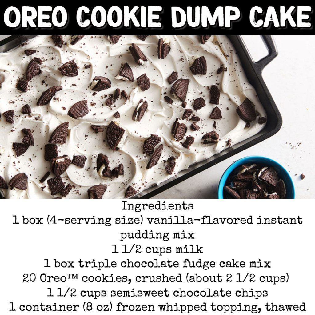 Dump Cake Recipes - Oreo Cookie Dump Cake Recipe #dumpcakerecipes #easydesserts #easyrecipes #dessertrecipes