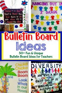 UNIQUE Bulletin Board Ideas for Teachers - fun and CLEVER bulletin board ideas for middle school, High School, Middle School, Kindergarten through Middle School - even for Preschool (PreK), Day Care, and Sunday School too. Super cute bulletin boards for Back To School and ALL Holidays for your display board decorations.