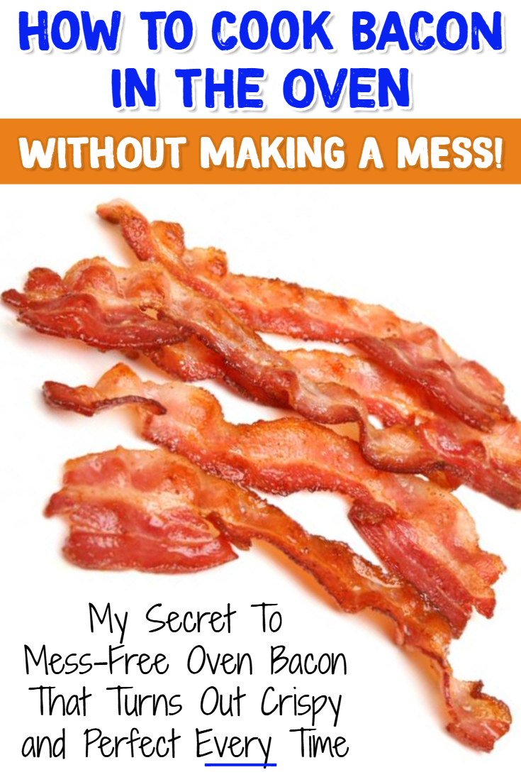 How to Cook Bacon in the Oven WITHOUT making a MESS! My secret tip to Mess Free Oven Baked Bacon #momhacks #baconrecipes #lifehacks