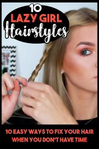 easy everyday hairstyles for long hair, medium length hair, and short hair too. These quick and easy hairstyles and hair tutorials are perfect if you're running late, or feeling totally lazy - these 10 easy-peasy hairstyle ideas that can be done in minutes - or less!