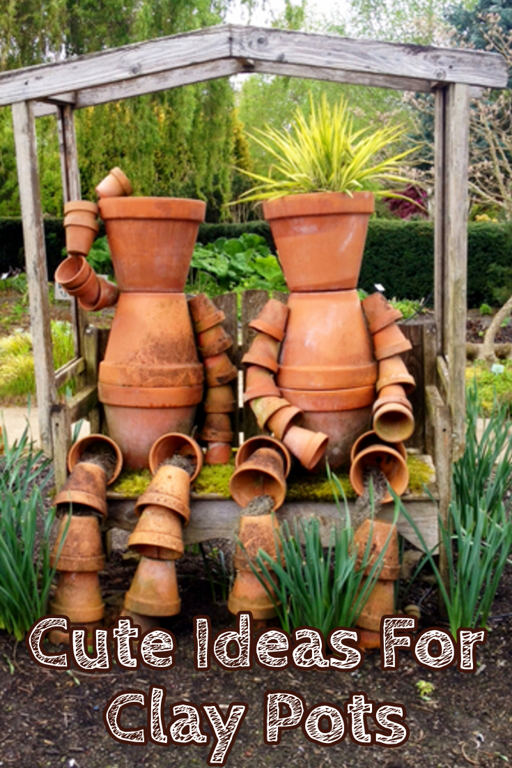 Ideas for clay pots - cute things to make out of clay flower pots