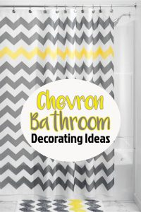 Chevron Style Bathroom Decorating Ideas - I just love the chevron pattern and found so many cute chevron bathroom accessories to decorate my guest bathroom with. I really love yellow and gray chevron bathroom decor, but the chevron pattern can be in any color scheme. Let's take a look at my favorite finds.