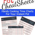 Instant Pot Cooking Times – Free CheatSheets