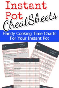 Instant Pot Cooking Times - FREE Instant Pot Cooking Times Cheat Sheet pdf and Cheat Sheets images to save for quick reference. Perfect quick guide and Instant Pot hints for all Instant Pot Recipes #instantpotrecipes #cookinghacks #cooking #easyrecipes #budgetrecipes #meals