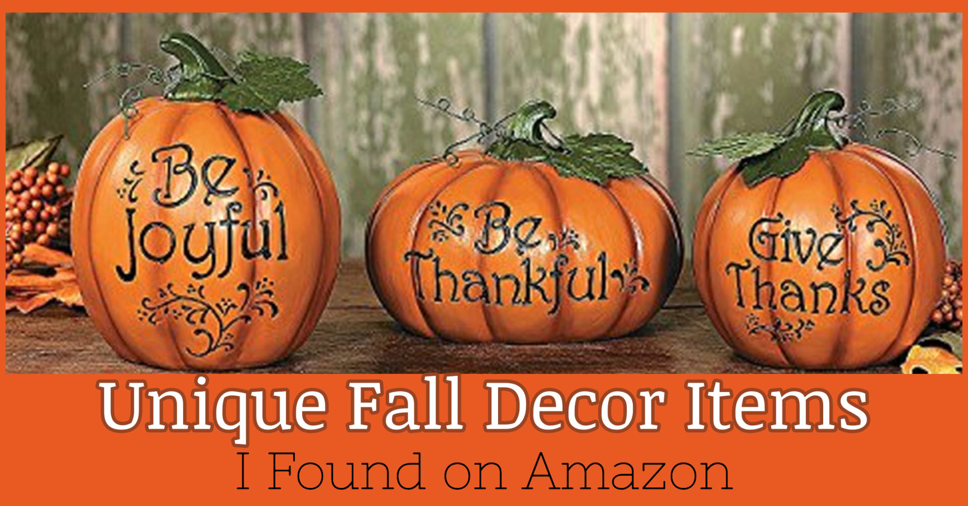 Autumn Decor Ideas - 21 Unique Autumn Decorations I Found On Amazon